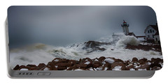 Storm Off Eastern Point Lighthouse Portable Battery Charger