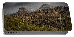 Storm Over Catalinas Aso Portable Battery Charger by Mark Myhaver