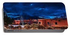 Storm Over Taos Lx - Homage Okeeffe Portable Battery Charger