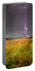 Storm Over The Wheat Fields Portable Battery Charger by Eti Reid
