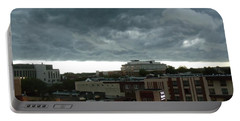Storm Over West Chester Portable Battery Charger by Ed Sweeney