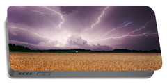 Storm Over Wheat Portable Battery Charger by Alexey Stiop