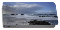 Storm Rolling In Wickaninnish Beach Portable Battery Charger