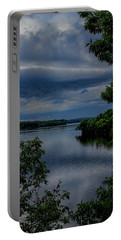 Storm Rolling Over Lake Wausau Portable Battery Charger