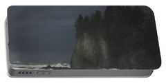 Storm At Lapush Washington State Portable Battery Charger