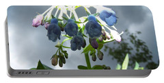Stormy Bluebells Portable Battery Charger