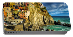 Stormy Day In Manarola - Cinque Terre Portable Battery Charger