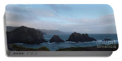Hartland Quay Storm Portable Battery Charger by Richard Brookes