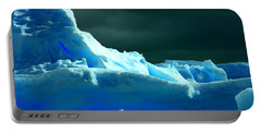 Portable Battery Charger featuring the photograph Stormy Icebergs by Amanda Stadther