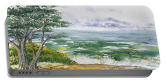 Stormy Morning At Carmel By The Sea California Portable Battery Charger