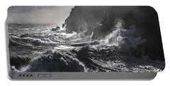 Stormy Seas At Gulliver's Hole Portable Battery Charger by Marty Saccone