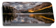 Stormy Sunset At Tenaya Portable Battery Charger