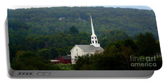 Stowe Community Church Portable Battery Charger by Patti Whitten