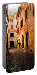 Portable Battery Charger featuring the photograph Strade Di Ciottoli by Micki Findlay