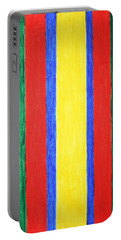 Portable Battery Charger featuring the painting Vertical Lines by Stormm Bradshaw