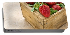 Strawberries Portable Battery Charger by Edward Fielding