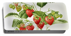 Strawberry Portable Battery Charger by Sally Crosthwaite