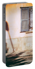 Portable Battery Charger featuring the photograph Street Lamp Shadow And Window by Silvia Ganora