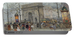 Street Scene In Paris Portable Battery Charger