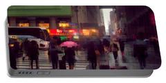Street Scene - Seventh Avenue - New York Portable Battery Charger