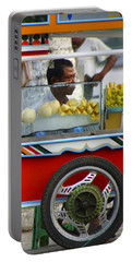 Street Seller Offering Fresh Fruit Yangon Myanmar Portable Battery Charger