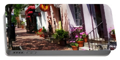 Alexandria Va - Street With Art Gallery And Tobacconist Portable Battery Charger