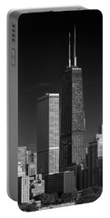 Streeterville Chicago Illinois B W Portable Battery Charger
