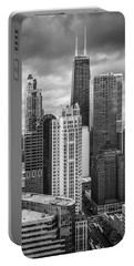 Streeterville From Above Black And White Portable Battery Charger