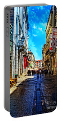 Streets Of Lisbon 1 Portable Battery Charger by Mary Machare