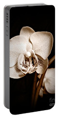Strength And Beauty Sepia Portable Battery Charger by Chalet Roome-Rigdon