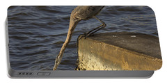 Portable Battery Charger featuring the photograph Stretch - Great Blue Heron by Meg Rousher