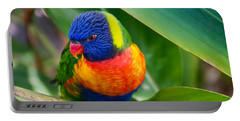 Striking Rainbow Lorakeet Portable Battery Charger