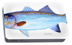 Striped Bass Portable Battery Charger by Carey Chen