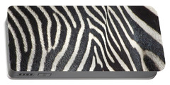 Stripes And Ripples Portable Battery Charger by Kathy McClure