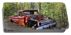 Portable Battery Charger featuring the photograph Stripped Chevy by Cathy Mahnke