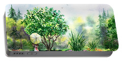 Strolling In The Garden Portable Battery Charger