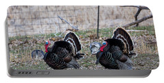 Strutting Turkeys Portable Battery Charger