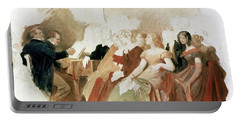 Study For An Evening At Baron Von Spauns Schubert At The Piano Among His Friends Portable Battery Charger