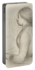 Study Of A Young Girl At The Piano Portable Battery Charger