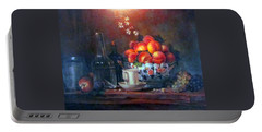 Portable Battery Charger featuring the painting Study Of Peaches by Donna Tucker