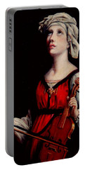Study Of St. Cecelia Portable Battery Charger