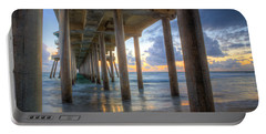 Subtle Pier Sunset Portable Battery Charger