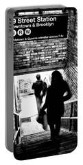 Subway Shadows Portable Battery Charger by Karol Livote