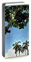 Success And Failure Botanical Inspiration Portable Battery Charger by Joan  Minchak
