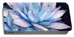 Succulent In Blue And Purple Portable Battery Charger by Jane Schnetlage