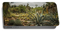 Succulents At Huntington Desert Garden No. 3 Portable Battery Charger