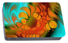 Portable Battery Charger featuring the digital art Sugar Coat It by Andee Design