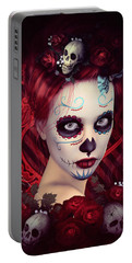 Sugar Doll Red Portable Battery Charger by Shanina Conway