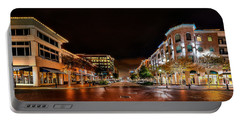 Sugar Land Town Square Portable Battery Charger by David Morefield