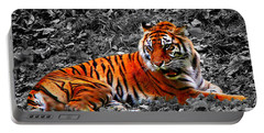 Sumatran Tiger Portable Battery Charger by Davandra Cribbie